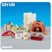 Playmobil 6291 Pizzeria Pizzas Add On Ciudad Tienda Retromex
