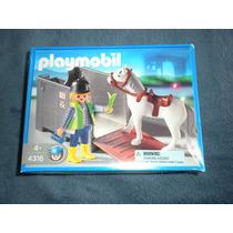 Playmobil Set De Remolque Con Caballoo Para! Avión!