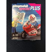 4780 Playmobil Special Niños Con Moto De Carreras Nuevo!!