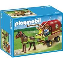 Playmobil 5228 Carreta Con Poni (caja Maltratada)
