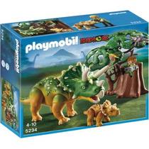 Playmobil 5234 Triceratops Con Cría (caja Maltratada)