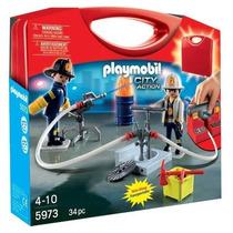 Playmobil 5973 Maletín De Bomberos!!