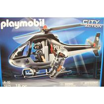 Helicoptero De Policia De Playmobil