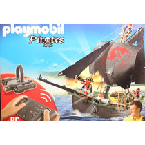 Barco Pirata De Control Remoto Playmobil