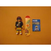 Playmobil Serie 5 Niños Muchacho Con Patineta De Nieve $55