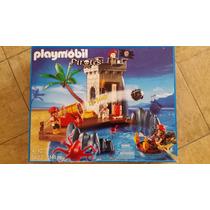 Playmobil 5622 Piratas Escondite Con Cañon Y Torre De Vigía