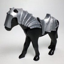 Playmobil Caballo Con Armadura Animal Medieval Retromex
