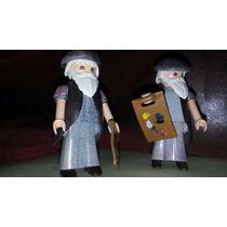 Playmobil Custom Leonardo Da Vinci Pintura Arte Medieval Js