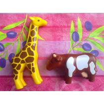 Playmobil Figura De Vaca Y Jirafa