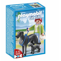 Playmobil 5210 Golden Danes Con Cachorro Retromex!!