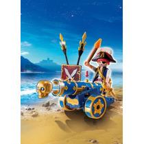 Playmobil 6164 Pirata Con Cañon Medival Barco Retromex