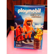 Playmobil 5367 Bombero Con Equipo City Action