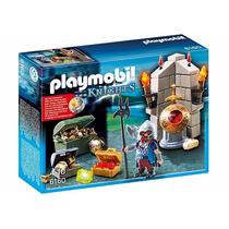 Playmobil 6160 Guardian Del Tesoro Dragon Medieval Retromex