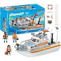Playmobil 5540 Barco De Rescate Ciudad Puerto Retromex