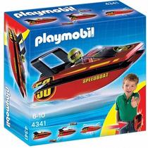 Playmobil 4341 Lancha De Carreras Portatil !!