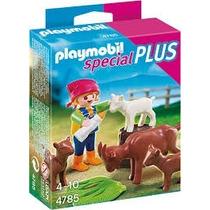 Playmobil 4785 Especial Niña Y Cabras Granja Retromex!!