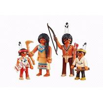 Playmobil 6322 Familia Nativa Indios Add On Oeste Retromex