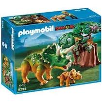 Playmobil 5234 Triceratops Con Bebe Dinosaurios Retromex!!