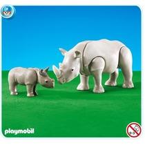 Playmobil 7989 Rinoceronte Con Cría Add-on