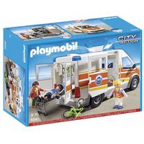 Playmobil 5541 Ambulancia Con Sirena Ciudad Rescate Retromex