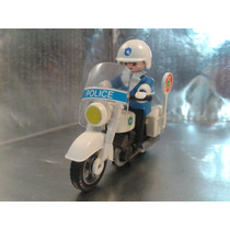 Playmobil - Policia En Motocicleta Geobra