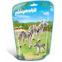 Playmobil 6641 Cebras Con Crias Zoologico Animal Retromex