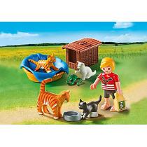 Playmobil 5535 Familia De Gatos Ciudad Granja Retromex