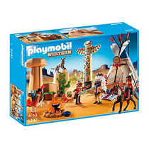 Playmobil 5247. Campamento Indio Con Totem. Playmotiendita