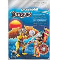 Playmobil 5462 Dragon De Roca Con Samurai Medieval Gzt