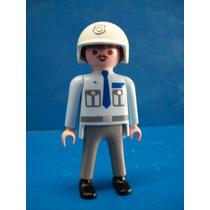 Policia Con Casco Playmobil