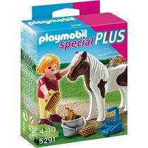 Playmobil 5291 Especial Plus Niña Con Potro Granja Retromex!