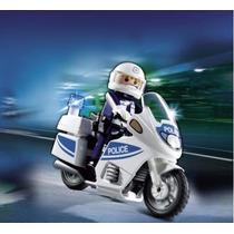 Playmobil 5185 Moto D Policia Rescate Ciudad Retromex