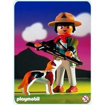 Playmobil Set 3828 Guardabosques Con Perro Vegetacion Js