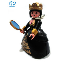 Playmobil Custom Reyna Negra Clon 4591 Medieval Retromex