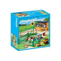 Playmobil 5123. Granja Conejos Con Corral Playmotiendita