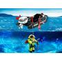 Playmobil 4910 Lancha Con Buzo Ciudad Submarino Retromex