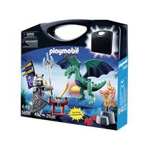 Playmobil 5609 Maletin D Caballero Dragon Medieval Retromex