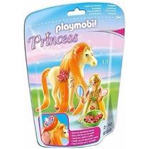 Playmobil Set 6168 Princesa Sol Con Caballo Naranja Magic Js
