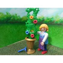 Playmobil Mujer Podadora Con Maceta Ciudad Js