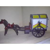 Playmobil Caballos Con Carreta Transportadora De Tesoros Js