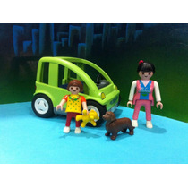 Playmobil Ref 3069 B Smart Verde Mama Con Niña D 1999 Ciudad