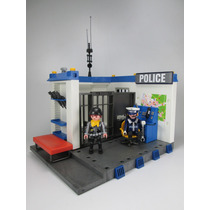 Playmobil Estacion Cuartel D Policia Rescate Ciudad Retromex