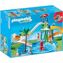 Playmobil 6669 Parque Diversiones Acuatico Con Tobogan Playa