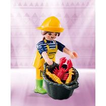 Playmobil 6841 Figures Serie 10 Niña Pescadora Con Cesta Js