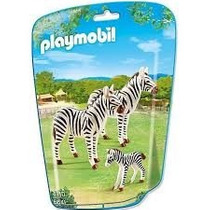 Playmobil 6641 Animales Zoo Cebras Con Cria Bebe Safari Js