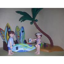 Playmobil Vendedor De Tablas De Surf En Playa Surfistas Js