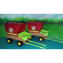 Playmobil Carretas Calesas Para Niños Carruajes Granja Js
