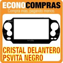 Cristal Delantero Color Negro Para Psp Vita 100% Nuevo!!!!!!