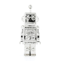 Pluma En Forma De Robot Nueva Dorado O Plateado Nueva