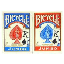 2 Mazos De Cartas Poker Bicycle Jumbo (1 Mazo Azul Y 1 Rojo)